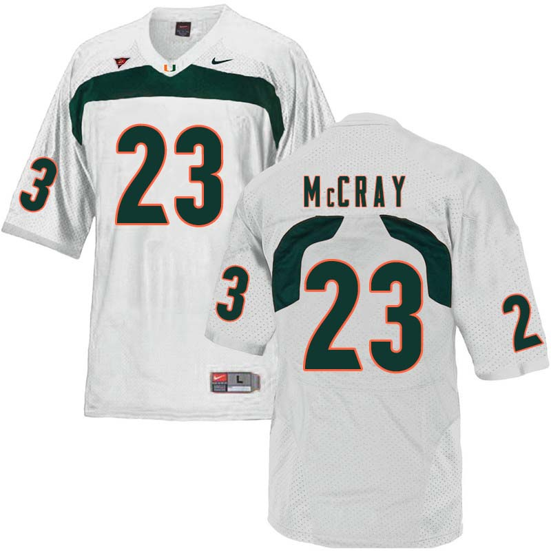 Nike Miami Hurricanes #23 Terry McCray College Football Jerseys Sale-White